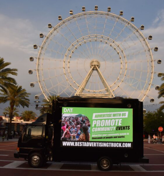 Reach your Targeted Audience with our Mobile Billboard Truck Rental