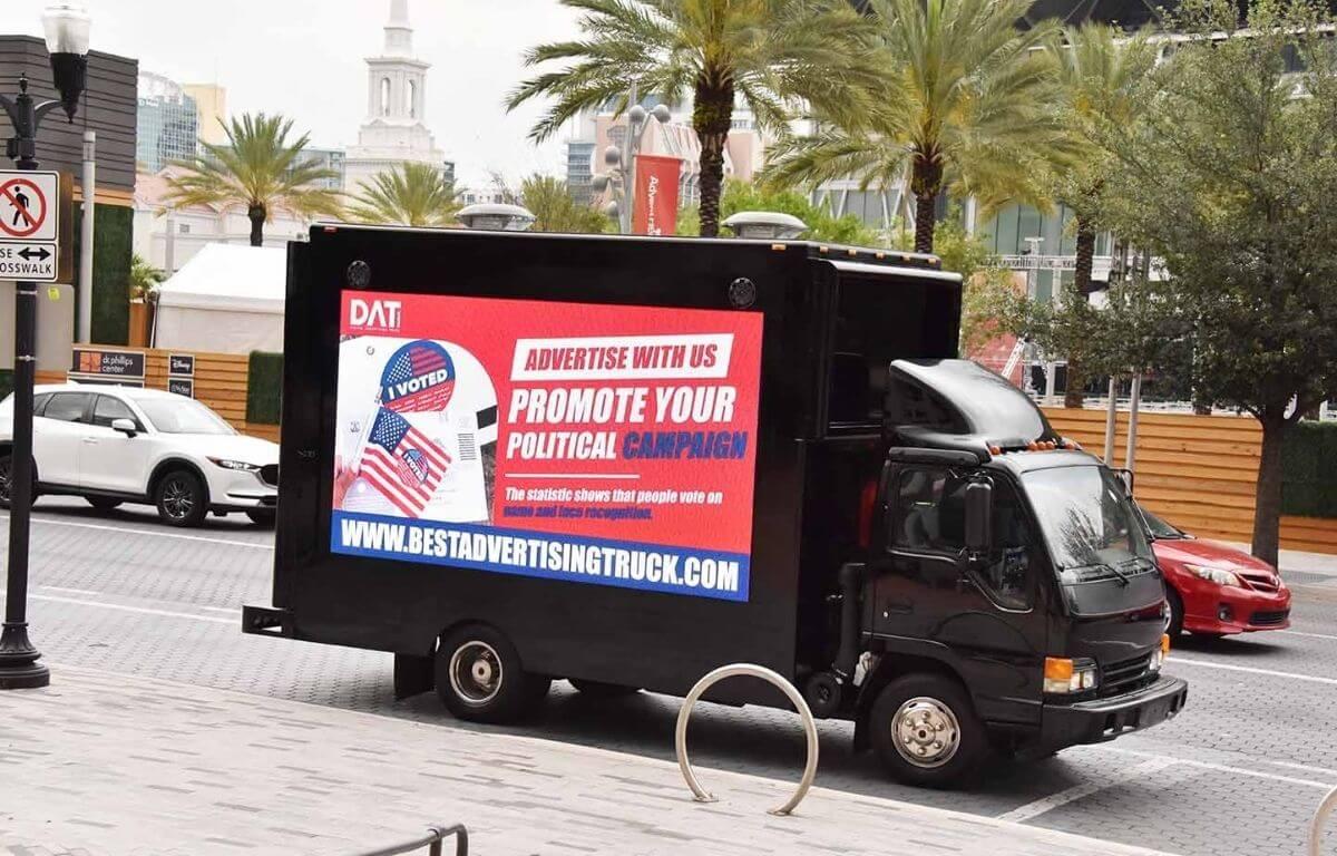 digital LED billboard Truck
