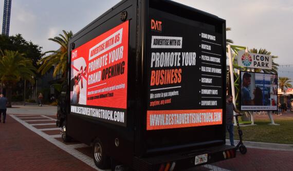 digital advertising truck