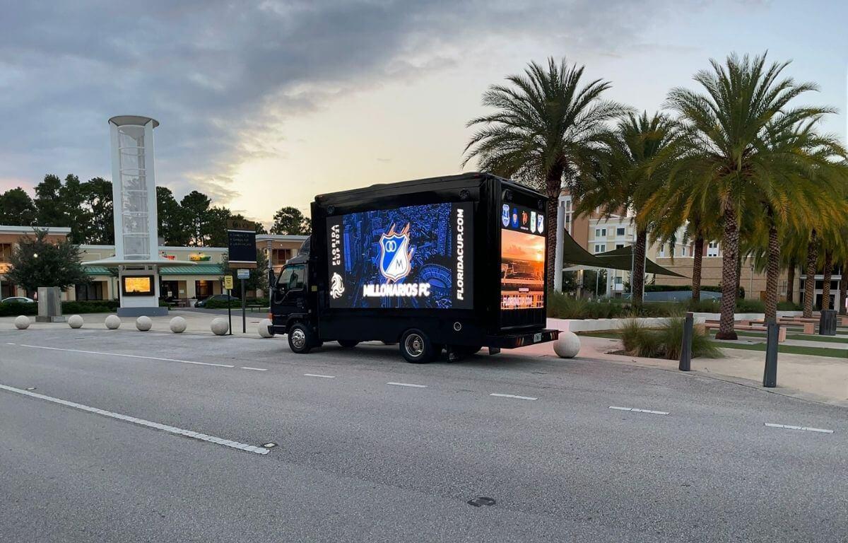 LED mobile billboard truck for sports events branding