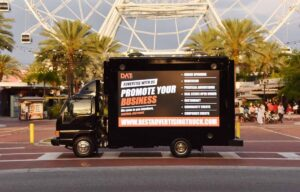 Promote your business on a digital advertising truck